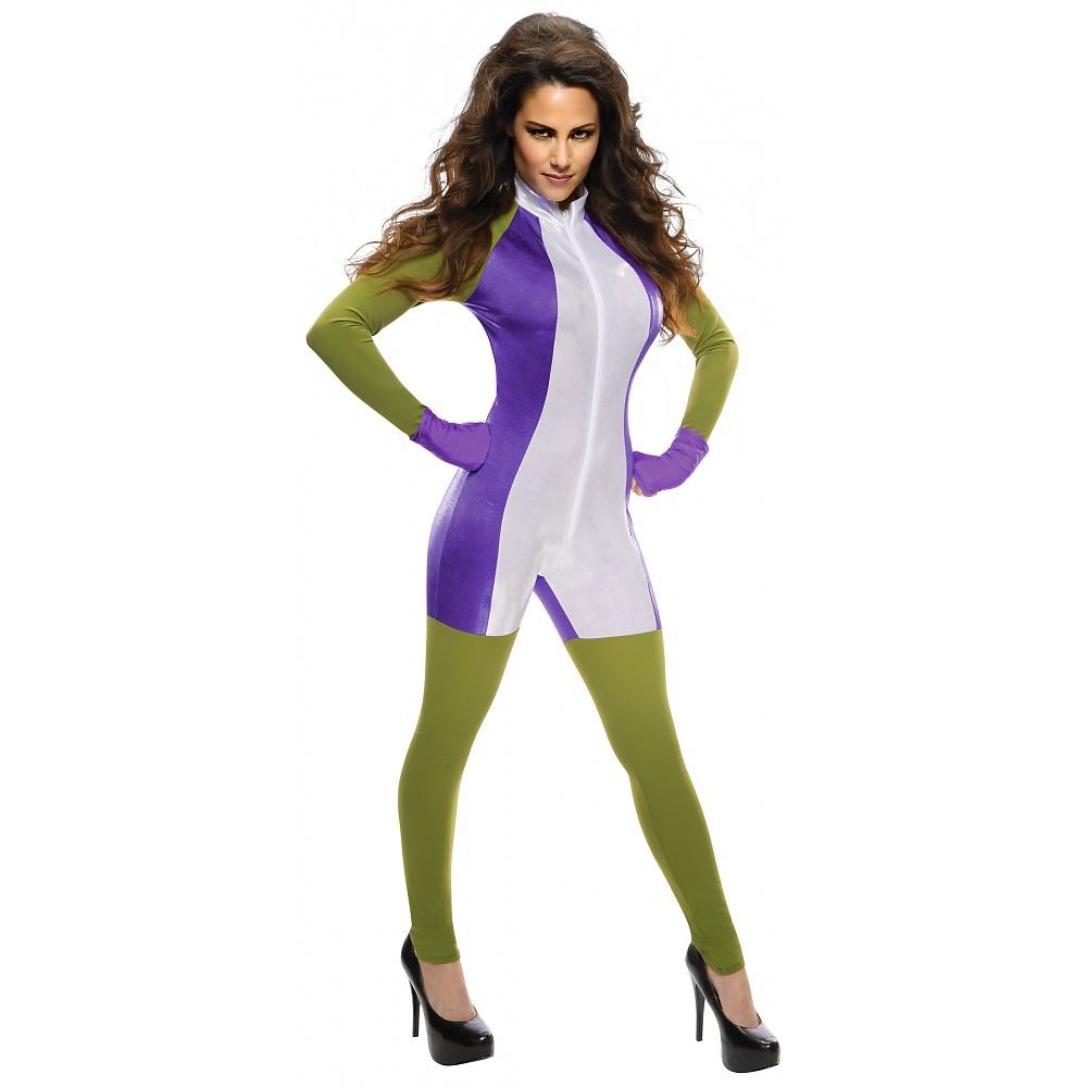 Superhero Jumpsuit Adult Costume She-Hulk - Medium