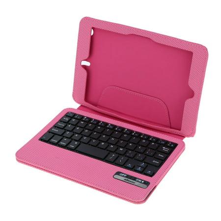 Folding PU Leather Protective Folio Case Cover Wireless Bluetooth 3.0 Ultra Thin Keyboard for iPad Mini (Keyboard Cover Ipad Mini)