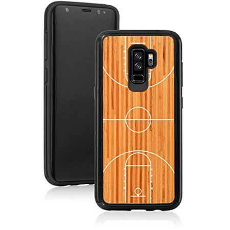 For Samsung Galaxy Shockproof Impact Hard Soft Case Cover Basketball Court (Black For Samsung Galaxy S9) Soft Court Accessories
