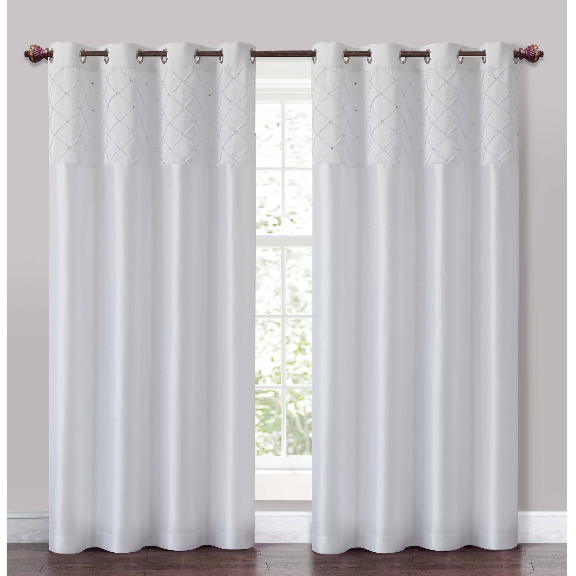 VCNY Home Roxanne Pintuck Grommet Curtain Panel