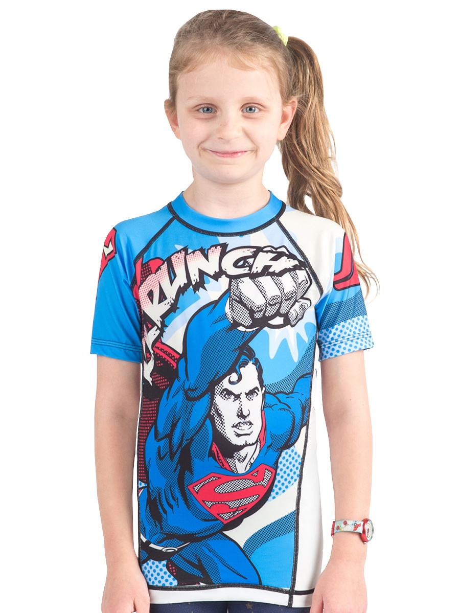 Fusion Fight Gear Kid's Superman Krunch Short Sleeve Rashguard