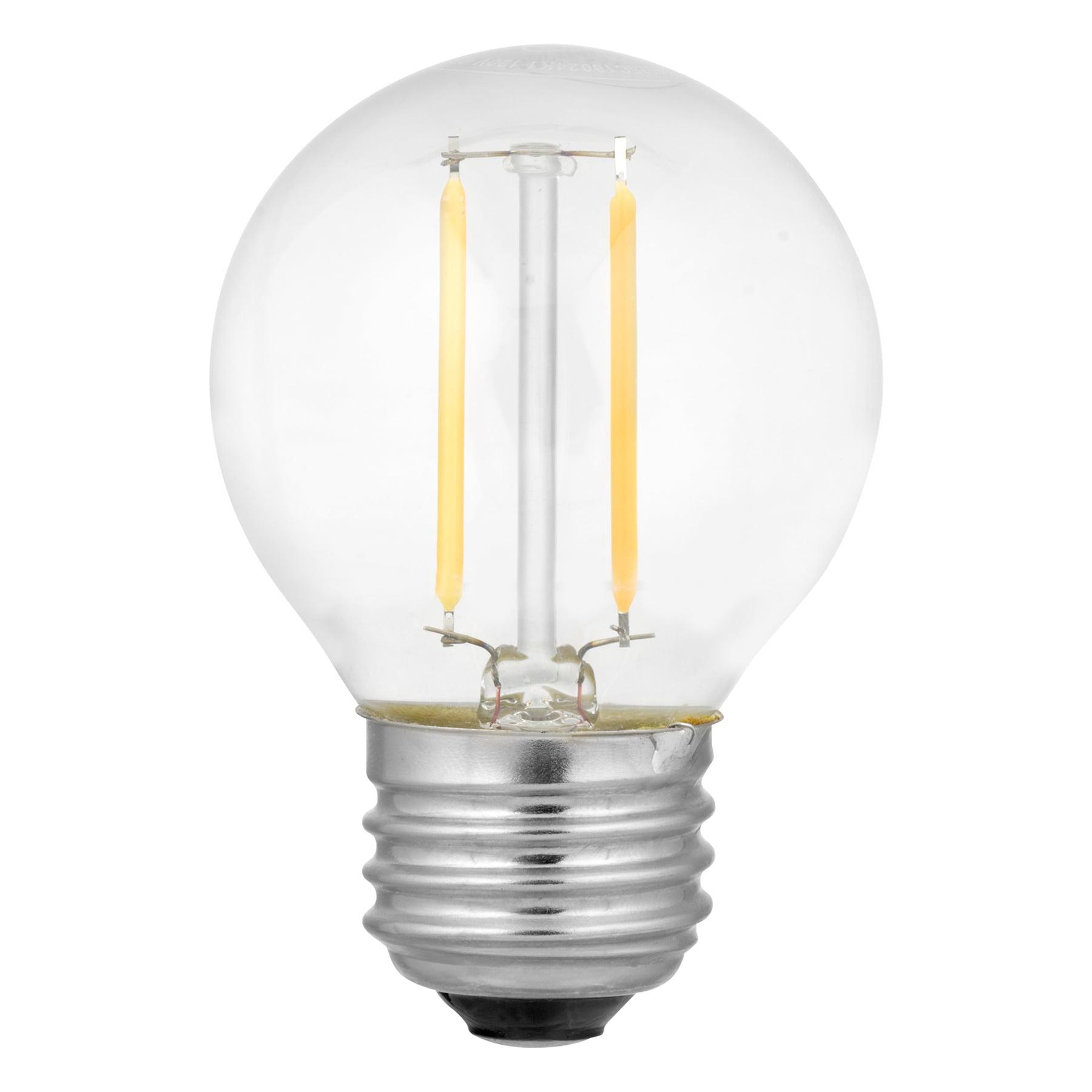 Nu-Tech LED Filament Globe Light Bulb, 2W (25W Equivalent), Clear, 1-count