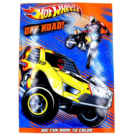 Mattel Hot Wheels X Bendon Coloring Book  Off Road Big Fun Book To Color 96 Page