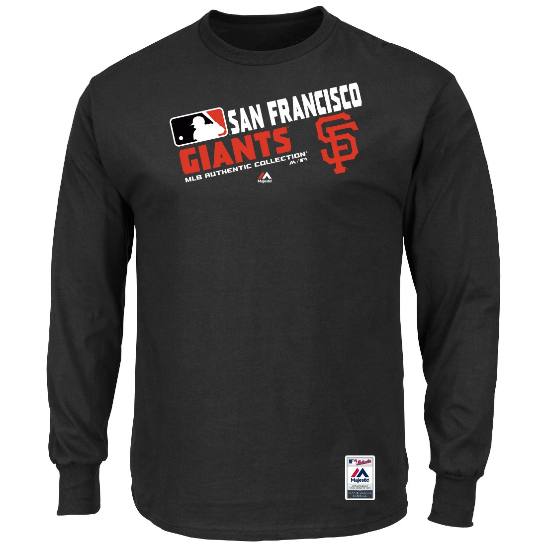 """San Francisco Giants Majestic MLB Authentic """"Team Choice"""" On-Field L/S T-Shirt"""