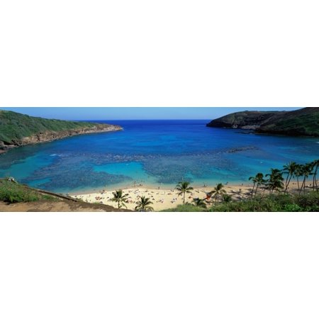 - Beach at Hanauma Bay Oahu Hawaii USA Poster Print