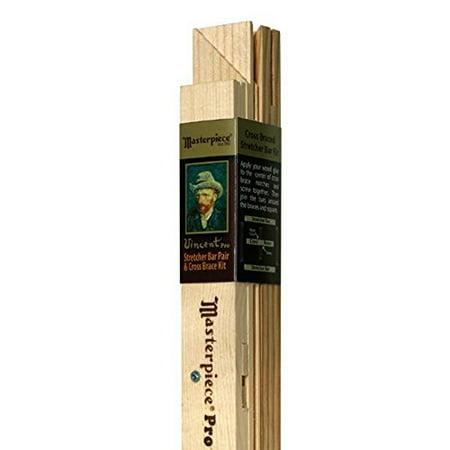 """Masterpiece Vincent Pro Stretcher Bar Pair & Cross Brace Kit, 7/8"""" Profile, 30"""""""