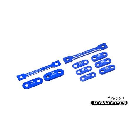 J Concepts Laydown Transmission Shim Set 1 & 2mm 10 pc set for Associated B6-Blue -
