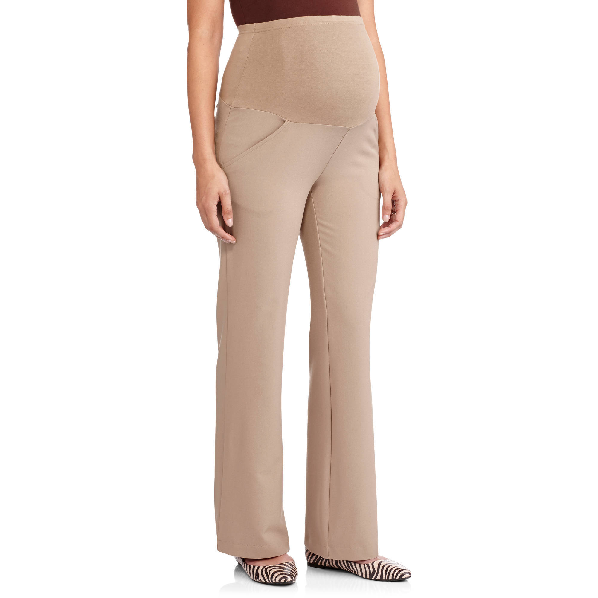 Full-Panel Wide Leg Career Maternity Pants