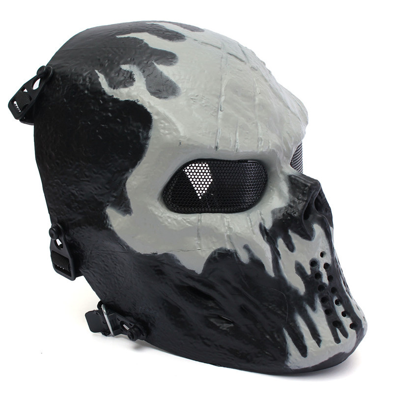 Elfeland Tactical Airsoft Mask Overhead Skull Mask Outdoor Paintball Hunting Cs War Game Mask