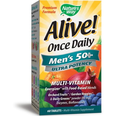2 Pack - Nature's Way Alive! Once Daily Men's 50+ Ultra Potency Multivitamin 60