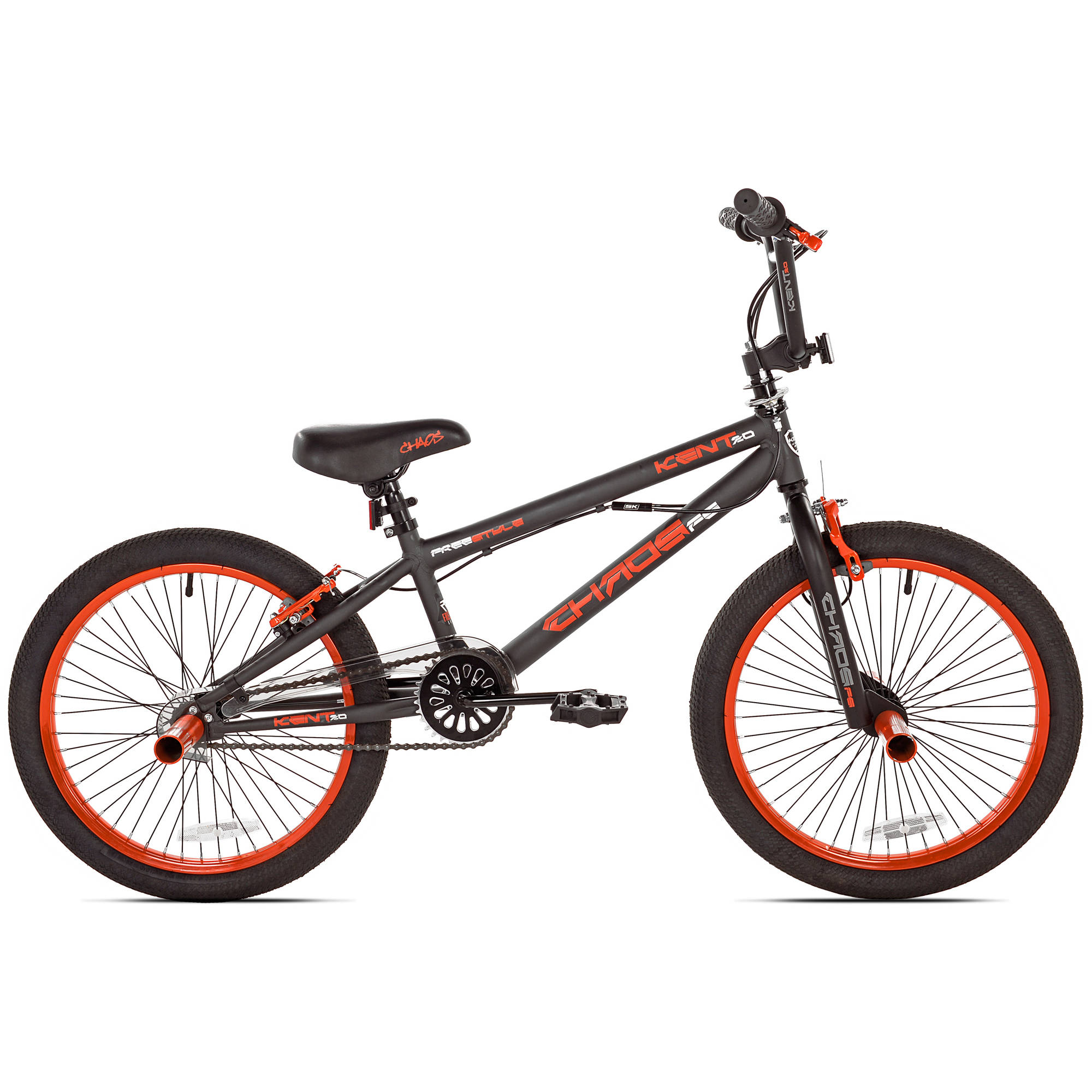 "20"" Kent Chaos Boys' Bike, Matte Gray/Orange"