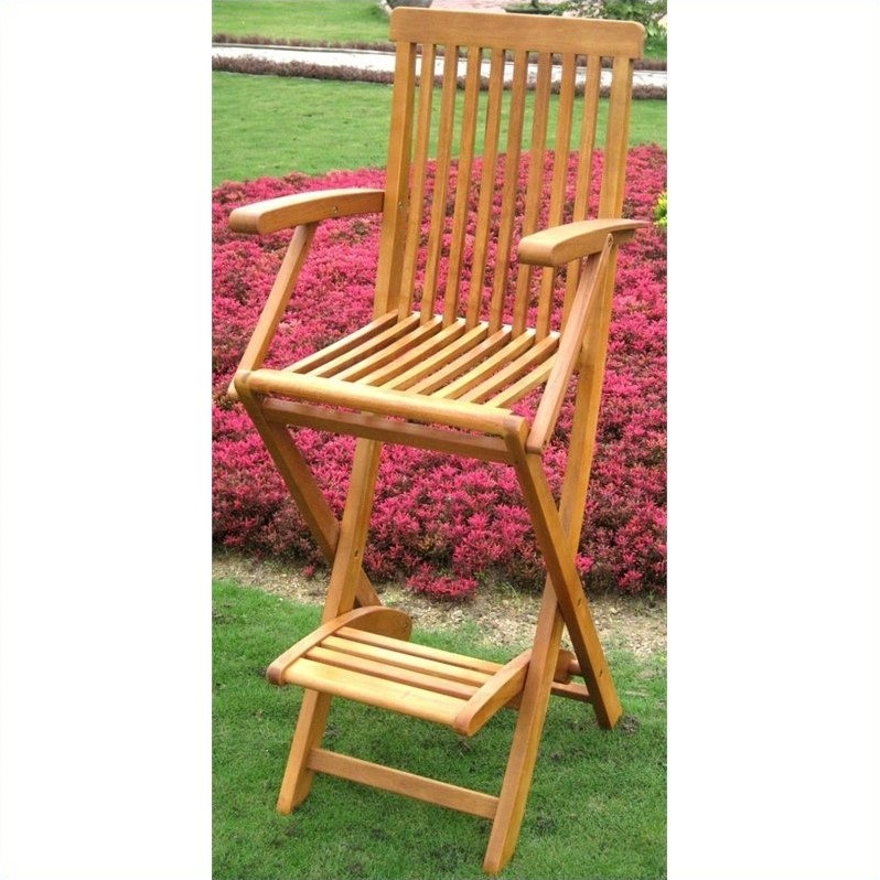International Caravan Royal Tahiti Outdoor Patio Folding Bar Stool (Set of 2)