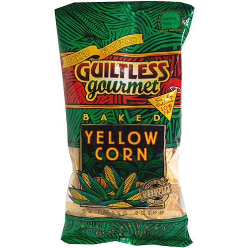 Guiltless Gourmet Baked Yellow Corn Tortilla Chips, 7 oz (Pack of 12)