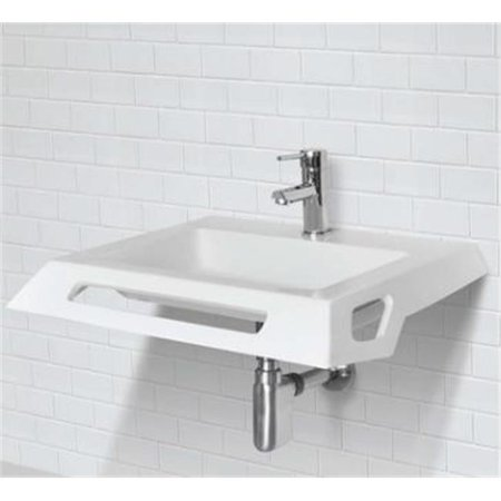 Solid Surface ADA Compliant Wall Mount Lavatory Sink, - Ada Compliant Top Mount