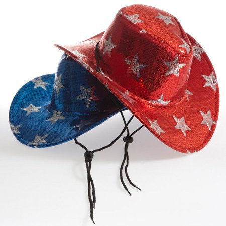 Patriotic Sequin Cowboy Hat - Patriotic Hat