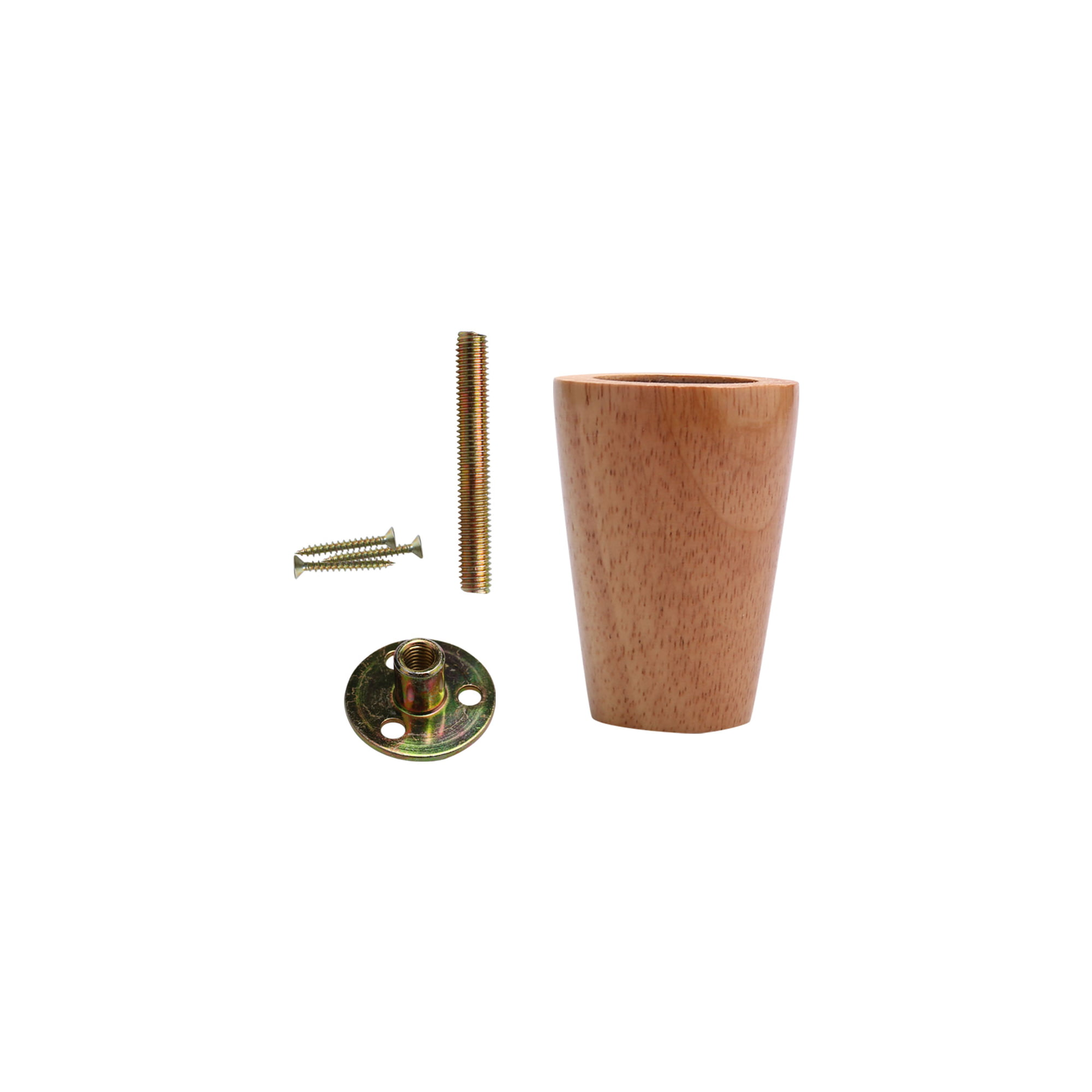 3 Inch Round Wood Furniture Legs Sofa Cabinet Feet Replacement Height Adjuster