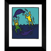 """Keith Haring FRAMED Art Print 20x24 """"Untitled 1983"""""""