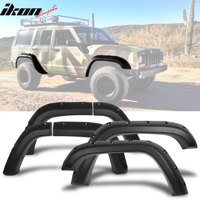 Fits 84-01 Jeep Cherokee XJ Pocket Rivet Style Wide Fender Flares Texture PP