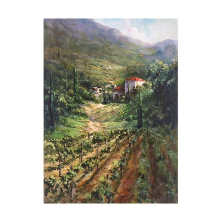 Tuscany Vineyard Italian Country Landscape Painting Print Wall Art By Art Fronckowiak (Italy Art Painting)