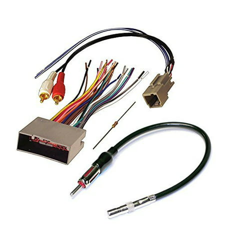 Audiophile Car Stereo CD Player Wiring Harness Wire Aftermarket Radio Install For Select Ford Lincoln and Mercury Vehicles Car Stereo Wiring Harness
