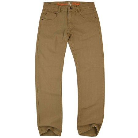 O'Look Men's Color Slim Fit Jean Pants 730- 34X33 - Khaki Color ()