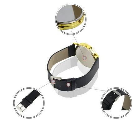 Fashion Womens Leather Alloy World Map Globe Analog Quartz Retro Wrist Watch - image 4 de 8