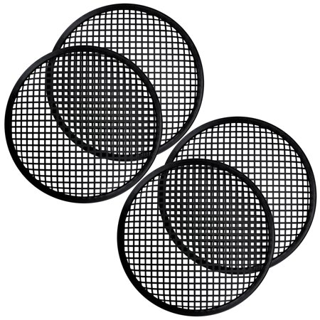 2 Pair 12 Inch Subwoofer Metal Waffle Grills - Universal Speaker Cover
