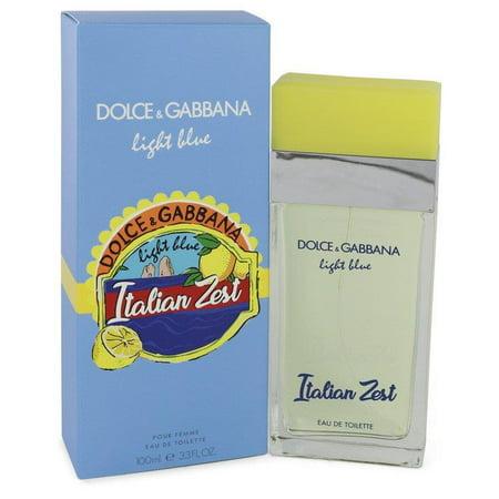Light Blue Italian Zest by Dolce & Gabbana - Women - Eau De Toilette Spray 3.4 (Is Dolce And Gabbana Italian)