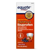 Equate Childrens Ibuprofen Berry Suspension, 100 mg, 8 Fl Oz