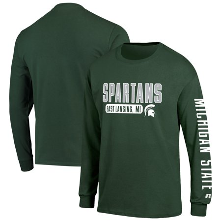 Men's Russell Athletic Green Michigan State Spartans Hit Long Sleeve covid 19 (Michigan State Spartans Green coronavirus)