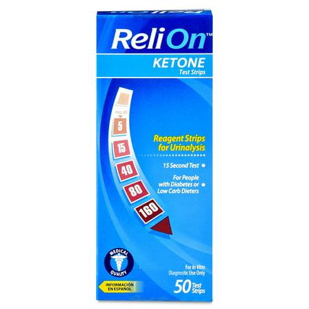 ReliOn Ketone bandelettes de test 50 Ct