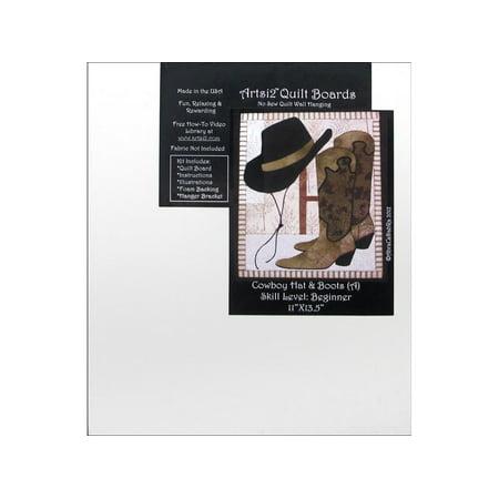 Cowboy Quilt (Artsi2 Quilt Board 11x13.5 Cowboy Boot &)