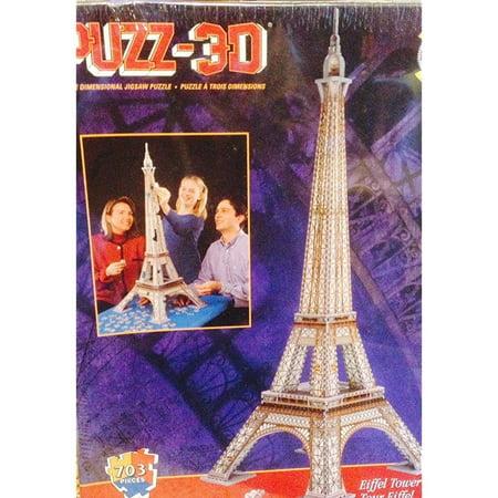 Wrebbit Eiffel Tower Three Dimensional Jigsaw Puzzle Three Dimensiional Jigsaw Puzzle*703 Pieces*Eiffel Tower in Paris, FranceSKU:ADIB00M5DDKB6