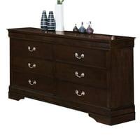 Coaster Company Louis Philippe Collection Dresser, Cappuccino