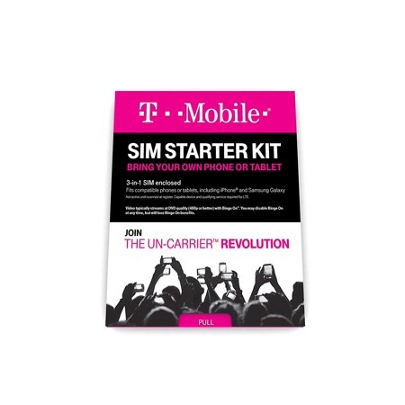 T-Mobile PrepaidWalmartplete SIM Starter Kit, Buying an unlocked,Walmartpatible phone or tablet? ThisWalmartplete SIM Kit allows you to choose a plan and.., By TMobile ()