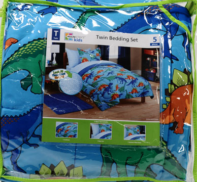 mainstays kids' dinosaur coordinated bed in a bag - walmart