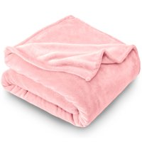 Bare Home Ultra Soft Microplush Velvet Blanket - Luxurious Fuzzy Fleece Fur - All Season Premium Bed Blanket, Twin Extra Long (Twin XL / Twin, Light Pink)
