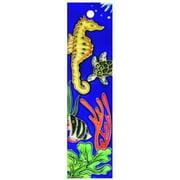 En Vogue NA-013 Aquarium Series Left - Decorative Ceramic Art Tile - House Number - 2 in.x8.5 in.En Vogue