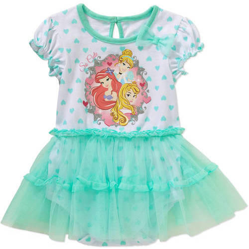 Princesses Newborn Baby Girl License Fashion Tutu Dress