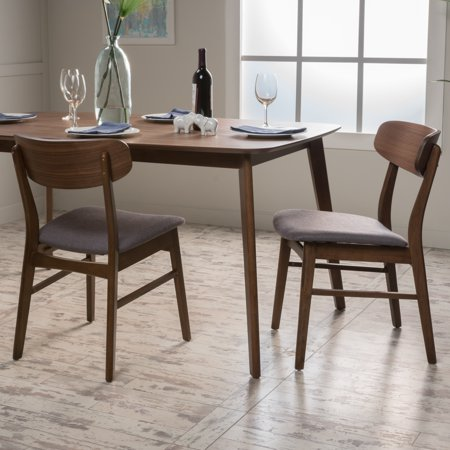 Noble House Harper Dining Chair, Set of 2, Dark Grey ()