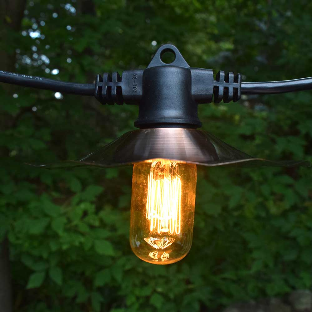 American Lighting Edison Cafe String Lights - 100 ft Copp...