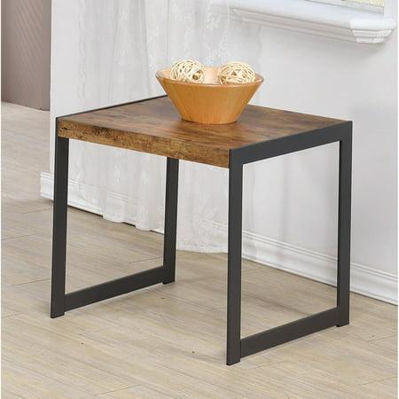 - Coaster End Table, Antique Nutmeg Finish