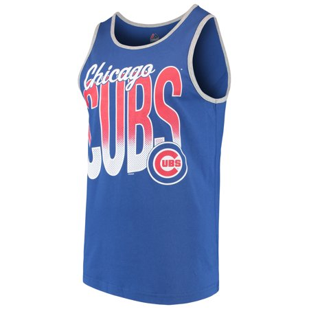 Men's Majestic Royal/Heathered Gray Chicago Cubs Within Reach Tank Top