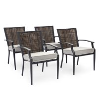 Belham Living Melrosa Wicker Outdoor Stationary Dining Chair - Set of 4