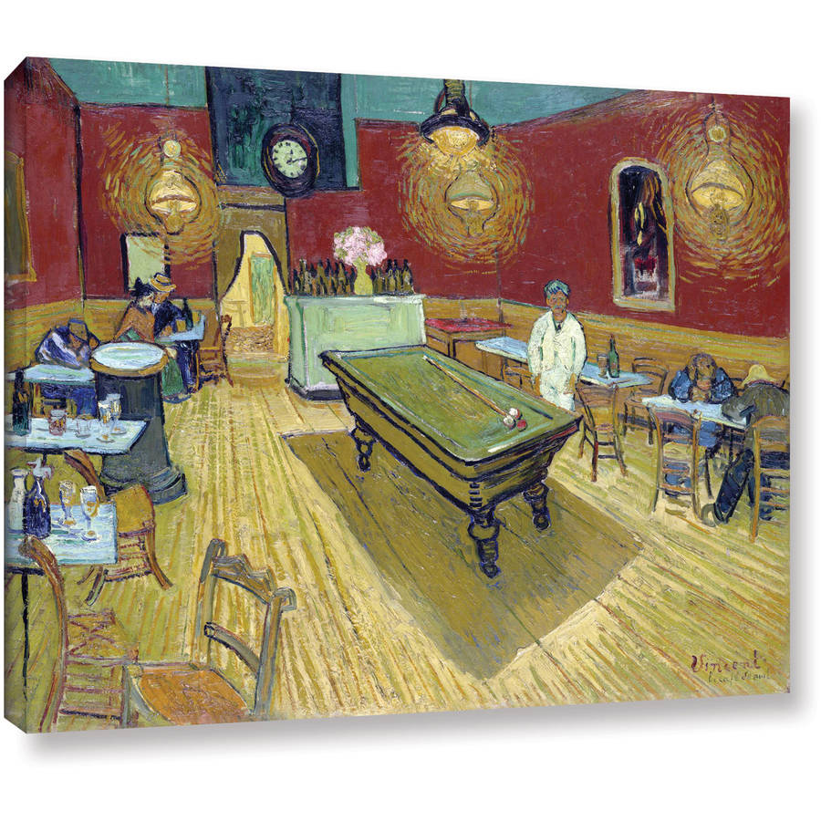 """Van Gogh """"The Night Cafe In The Place Lamartine In Arles"""" Wrapped Canvas"""