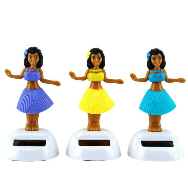 Dancing Solar Powered Hula Girls Bobble Head Plastic Toy Sun Catcher For Car