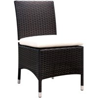 Furniture of America Carrie Patio Dining Chair, Set of 2, Gray and Espresso