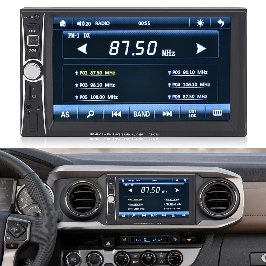"""CNMODLE 6.6""""HD Double 2DIN Bluetooth Touch Car Radio Stereo MP5 MP3 Player"""