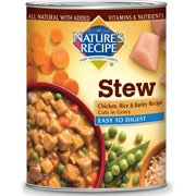 Nature`s Recipe Easy to Digest Chicken, Rice & Barley Recipe Cuts In Gravy Wet Dog Food, 13.2 oz