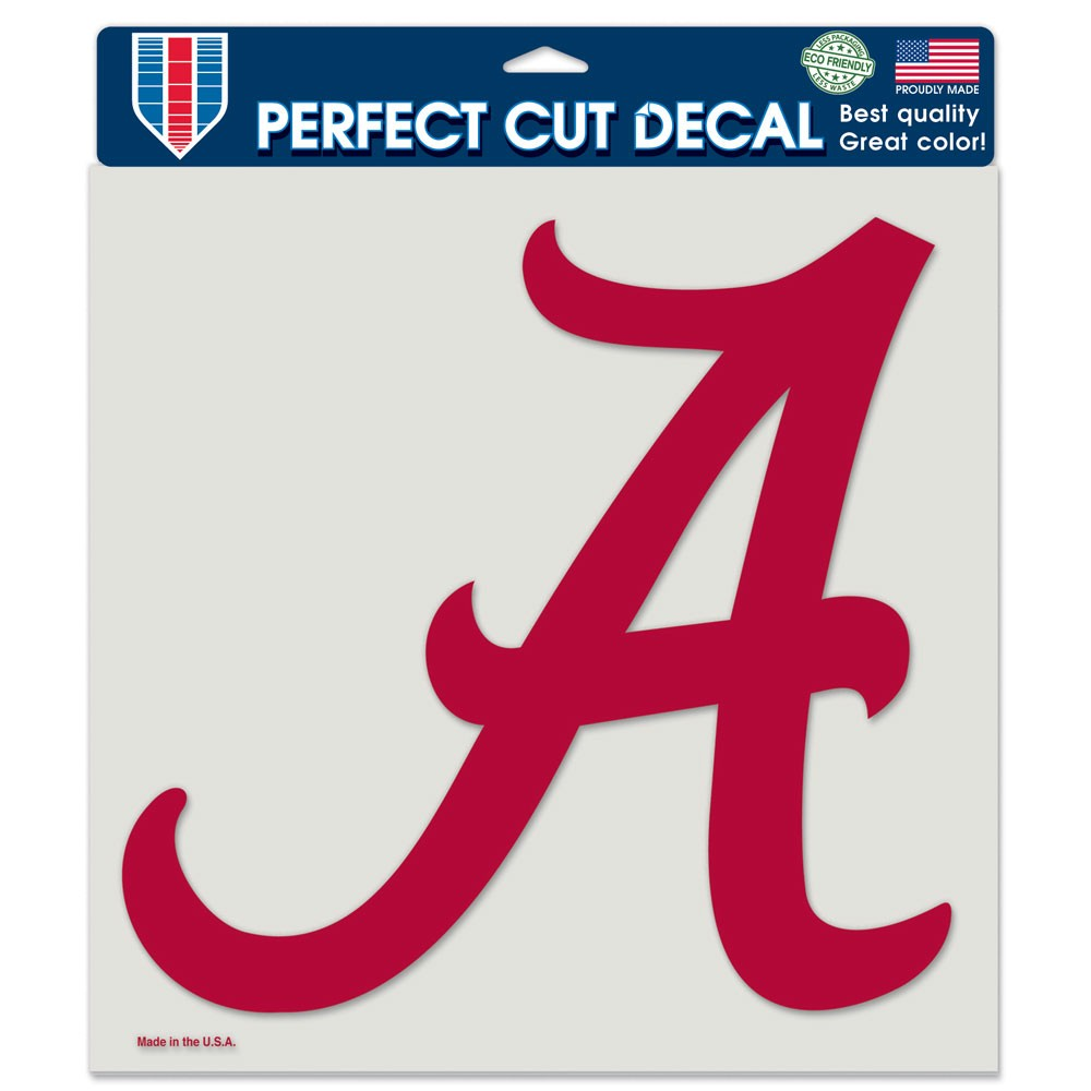 Alabama Crimson Tide Official NCAA 8 inch x 8 inch  Die Cut Car Decal by Wincraft